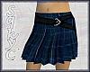 Blue Plaid Skirt w/Belt