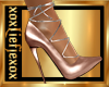 [L] Leather Metal Heels