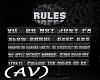 (AV) Room Rules Scroll