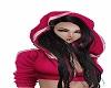 blk pink hoodie hair