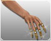 + Gold Crystal Nails