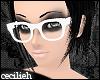 ! white nerd glasses