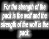 Wolf Sign #1