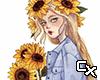 Sunflower Girl Cutout v3