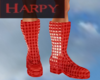 Red Shiny Boots