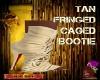 DM:TAN FRINGE CAGED BOOT