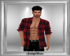 Bare Chest Red Plaid