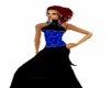 *R* Black&Blue Gown