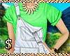 Kid green tee w/ overall