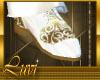 LUVI WHITE & GOLD SHOES