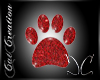 Red Kitty Paw CC