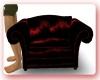 Red an Blacl Love Chair