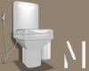 White Toilet Set