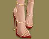 R Gold Strap Heels