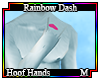 Org Rainbow Dash Hands M