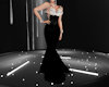Feather gown Blk & Wht
