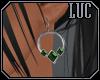 [luc] earrings s emerald