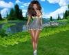 Mini Denim&Plaid Dress