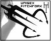 -Blck Pitchfork Unisex.-