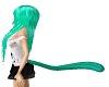Sea Foam Green Cat Tail