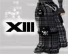 black Plaid Punk Pants m