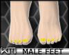 +KM+ Male Feet Yellow