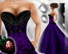 !! Purple Blk Ball Gown