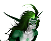 green wild boy hair