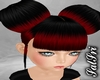 Redish/Black Big Buns