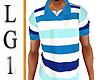 LG1 Striped Polo