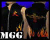 Flaming Tribal Mock Vest