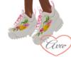 Sneakers W flowers