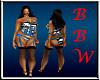 BBW Zebra Corset set