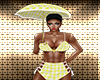 Yellow Gingham Umbrella