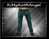 Teal Casual Pants