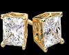 !C! GOLD DIAMOND STUDS!