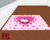 Square Hello Kitty Rug