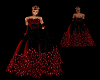 Feathered Gown -Red