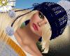 pom pom hat with hair*bl
