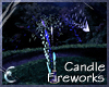 Candle Fireworks - Blue