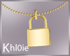K gold lock necklace