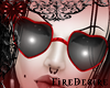 FD Heart Red Glasses
