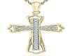 Gold Dimond Cross