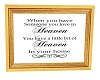 In Memory Quote Frame