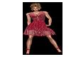 Red Bling Summer Dress