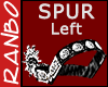 *R*Silver/Leather Spur L