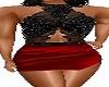 red black halter mini