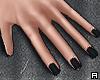 ϟ. Black Nails Simple