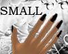 Black nails small hand