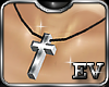 EV Silver Cross Necklace